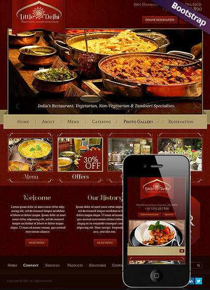 Indian Restaurant web template