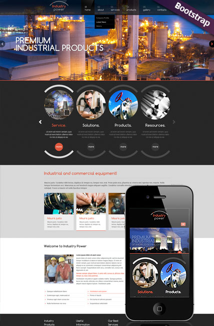Industry Power web template