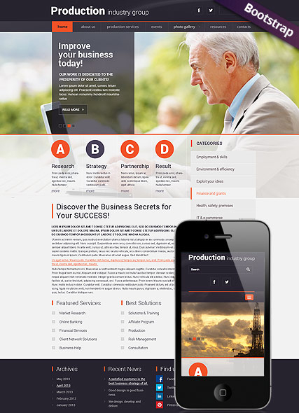 Industry Production web template