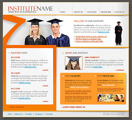 Institute web template