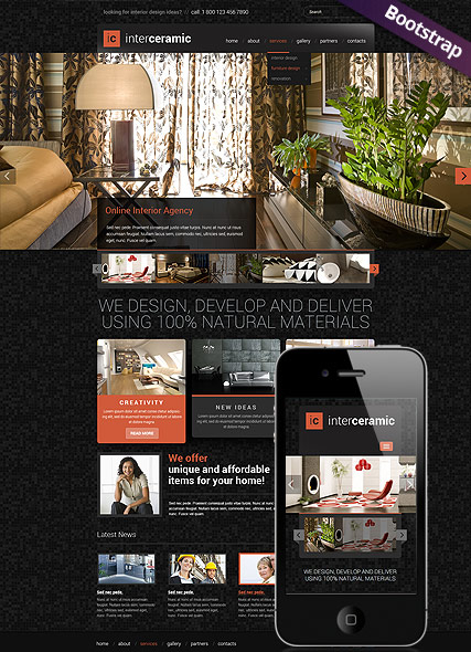 Interior and decore web template
