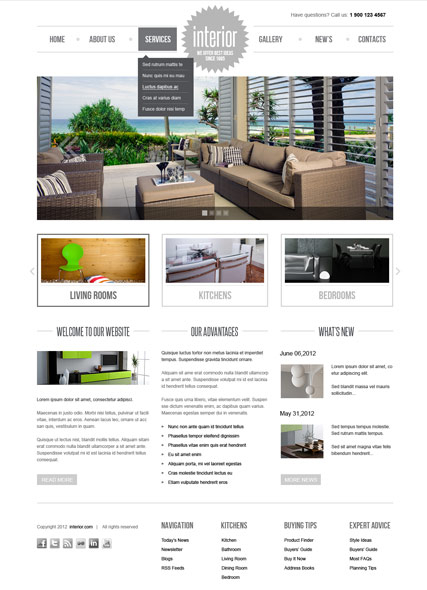 Interior v2.5 web template