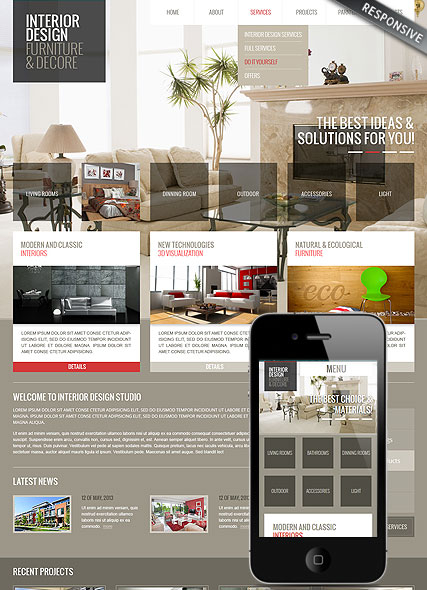 Interior web template
