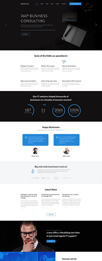 """Business Consulting"" Joomla site template"