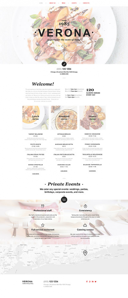 Italian Restaurant Muse Template
