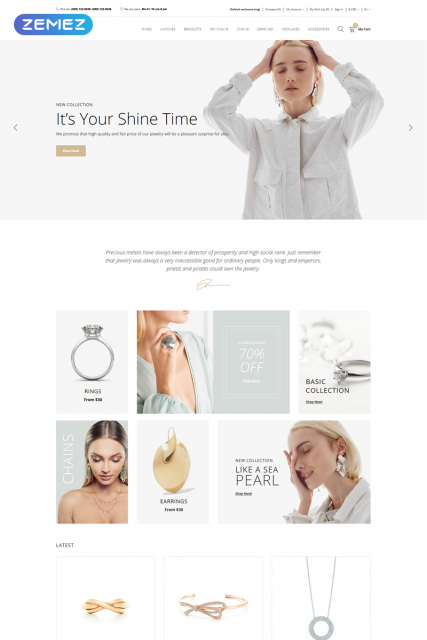 Jewella - Jewelry Store Clean OpenCart Template