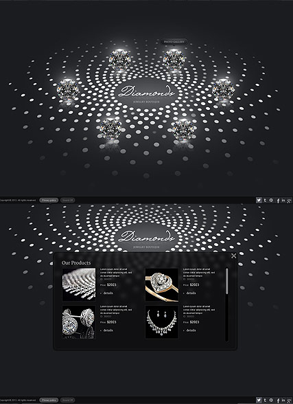 Jewelry Boutique web template