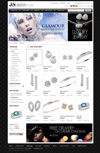 Jewelry store 2.3ver web template