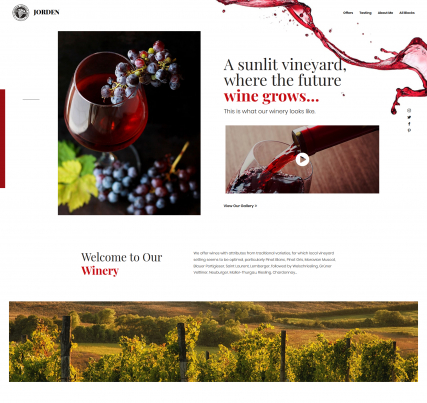 Jorden - Winery Landing Page Template