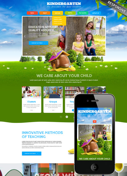 """Kids Land"" Wordpress responsive template"