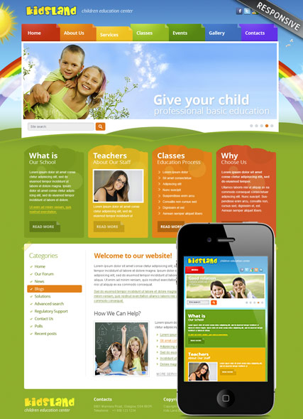 Kindergarten v3.0 web template