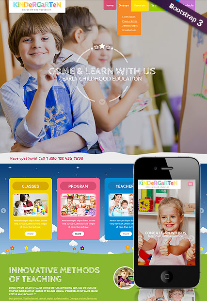 Kindergarten web template