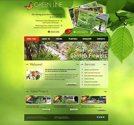 Landscape Design web template
