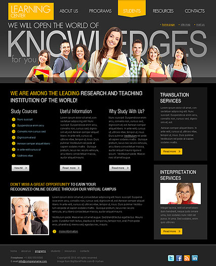 Learning Center web template