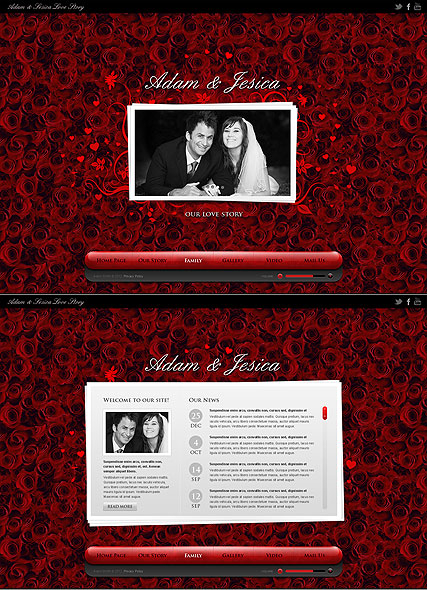Love Story web template