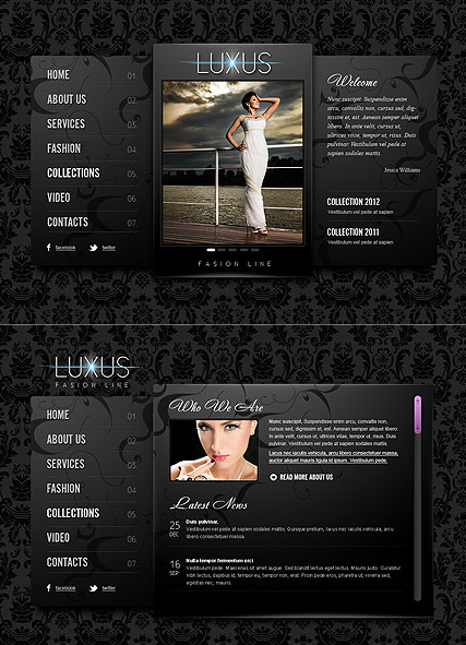 Luxus Fashion web template