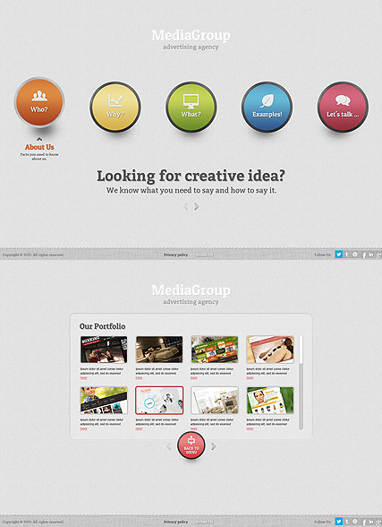 Media Group web template