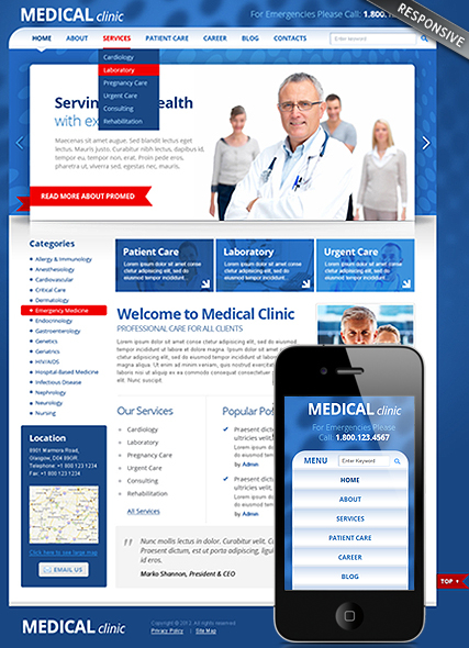 Medical Clinic web template