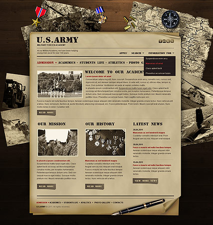 Military Academy web template