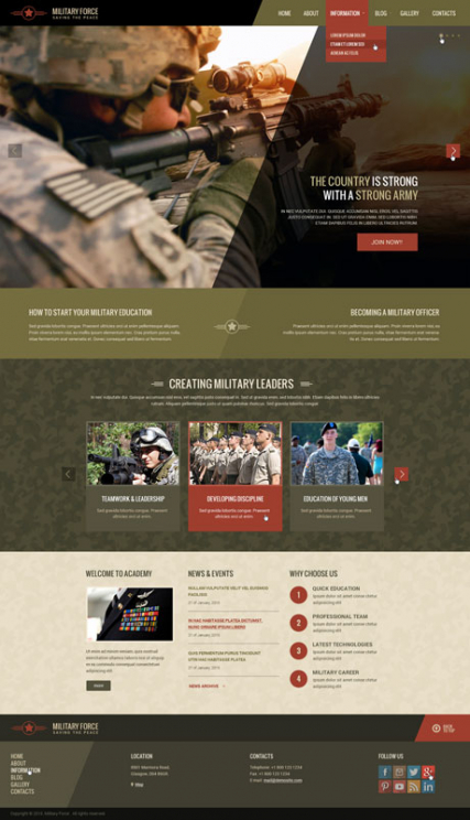 Military web template
