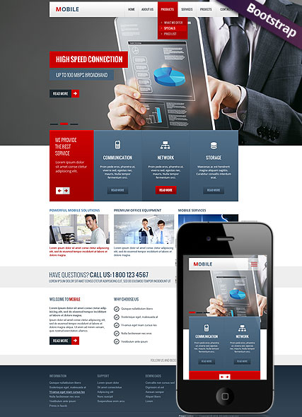 Mobile web template