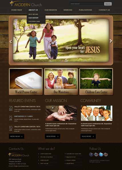 Modern Church V25 Web Template