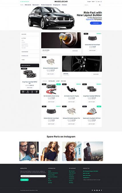 Opencart template builder gallery template design ideas for Opencart template builder