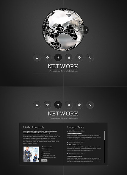Network web template