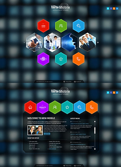 New Communication web template