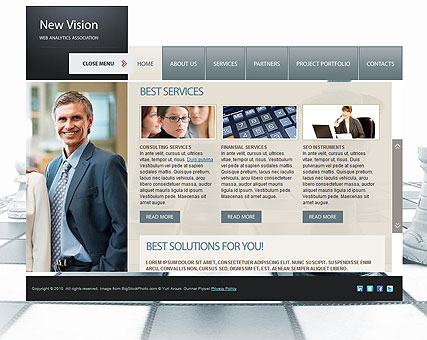 New Vision web template