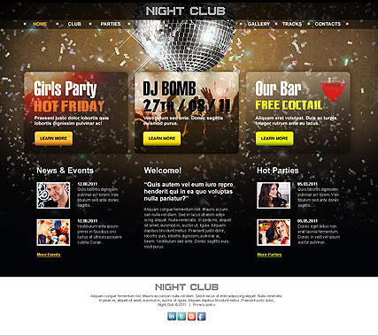 Night Club web template