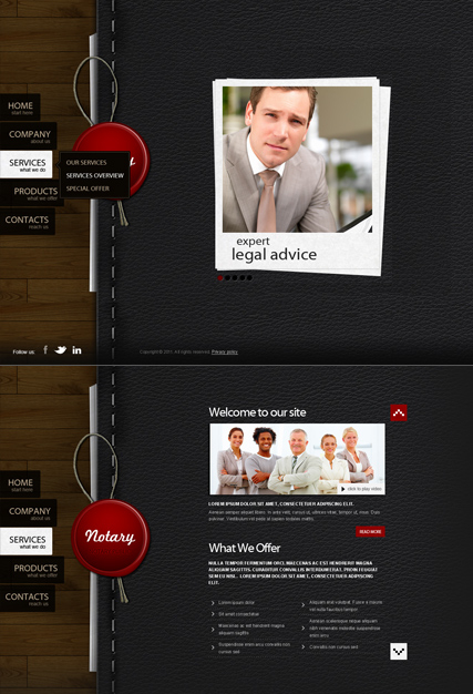 Notary Public web template