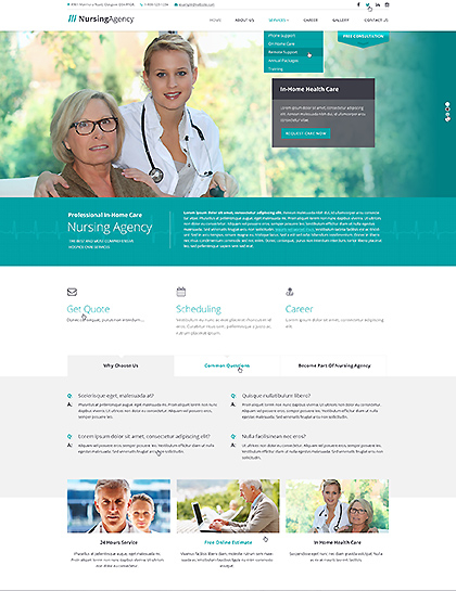 Nursing care web template