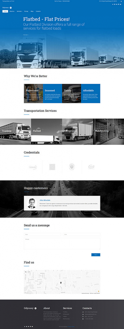 Odyssey - Transportation, Trucking & Logistics WordPress Theme