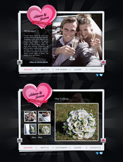 Our Wedding web template