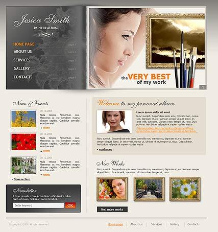 Painter Album Web Template