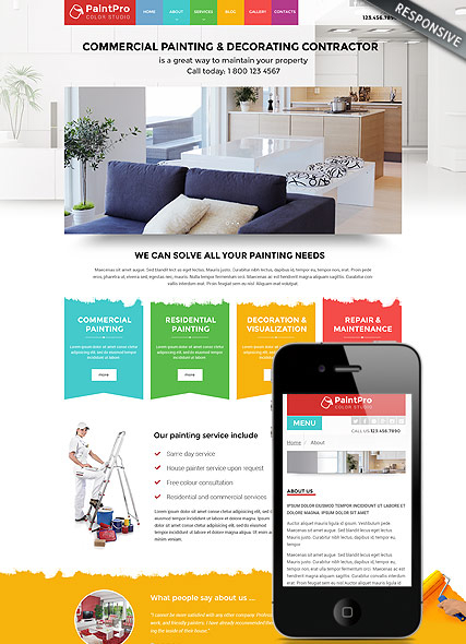 Painter v3.4 web template