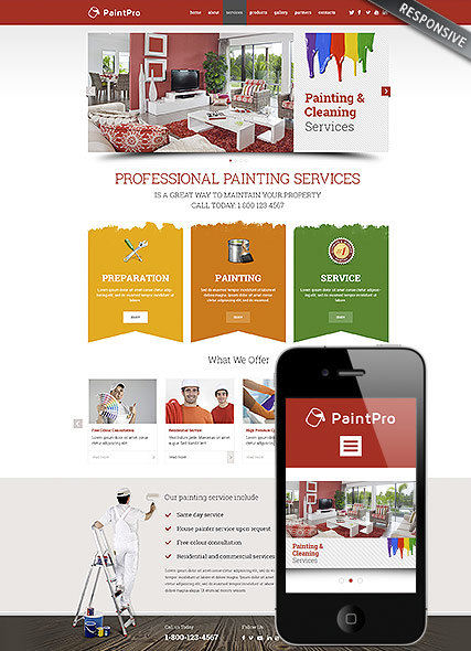 Painting co web template