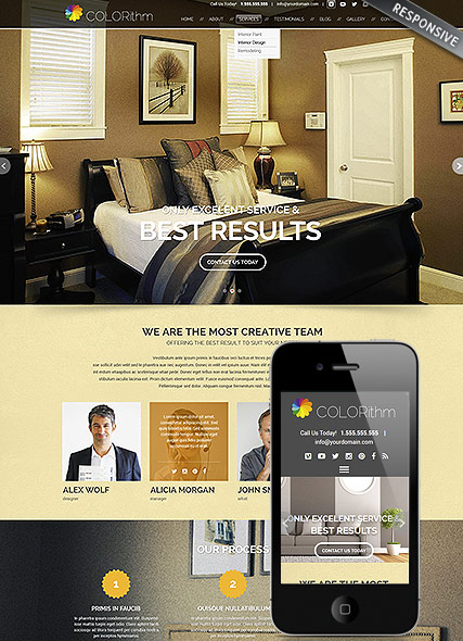 Painting web template