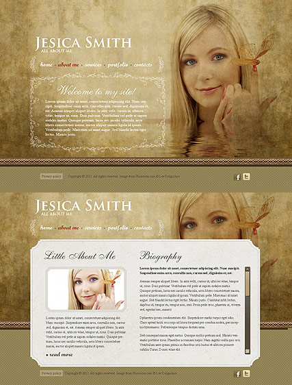 Personal Page web template