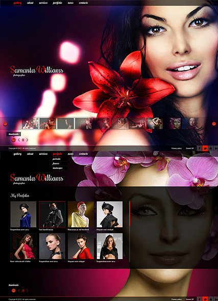 Photo Portfolio web template