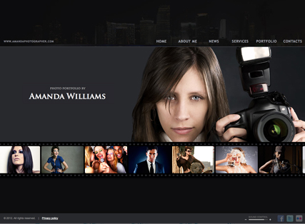 Photographer web template