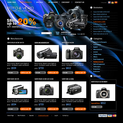 PhotoVideo Store web template