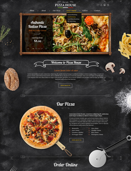 Pizza House web template
