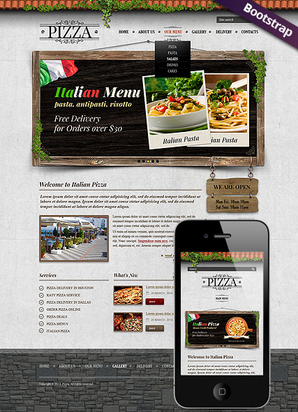 Pizza web template