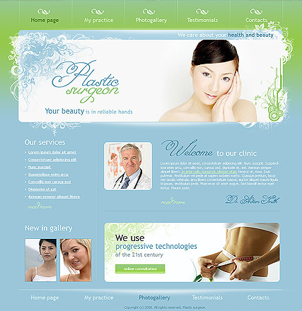 Plastic surgeon web template