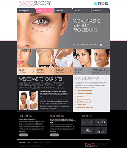 Plastic Surgery web template