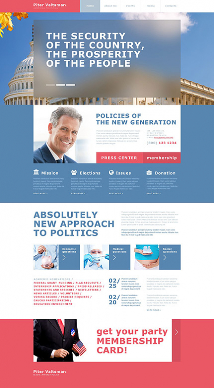 Political Candidate Muse Template