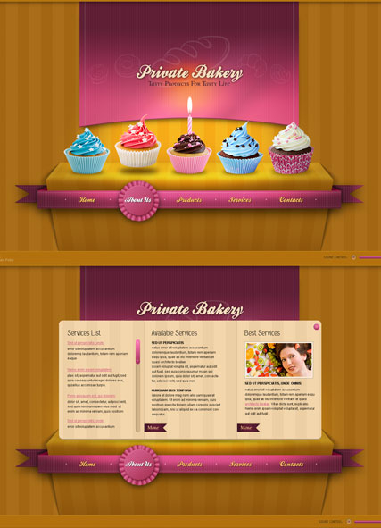 Private Bakery web template
