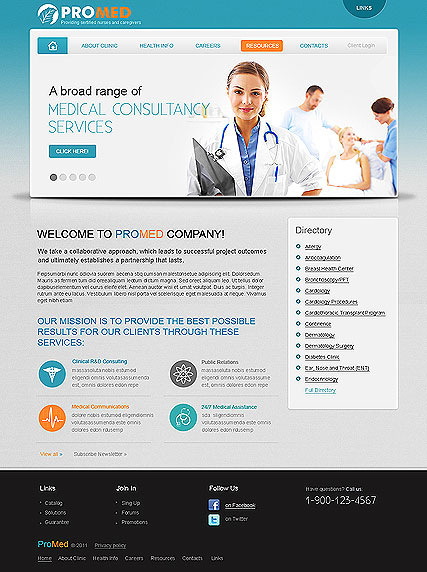 Pro Medical web template